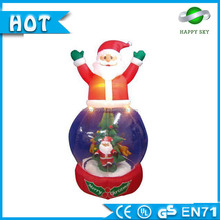 Promotional price!!! Small snow glob for christmas, shine inflatable snow glob, inflatable snow globe for sale