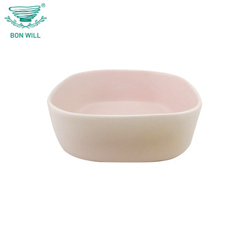 Chinese oem bulk soup ceramic pink bowls for tableware