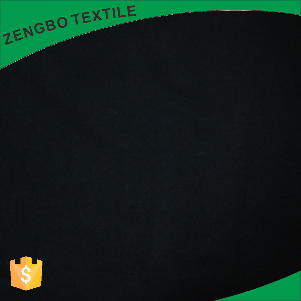 Chinese factory 47 cotton 48 modal 5 spandex black two-sided jersey knit fabric wholesale