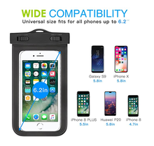 USA Amazon most popular, Eco-friendly high quality Soft TPU case swimming mobile waterproof phone bag