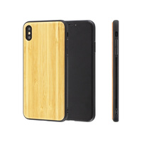 Free Sample Blank Wood TPU Back Cover Mobile Phone Case For iPhone 8