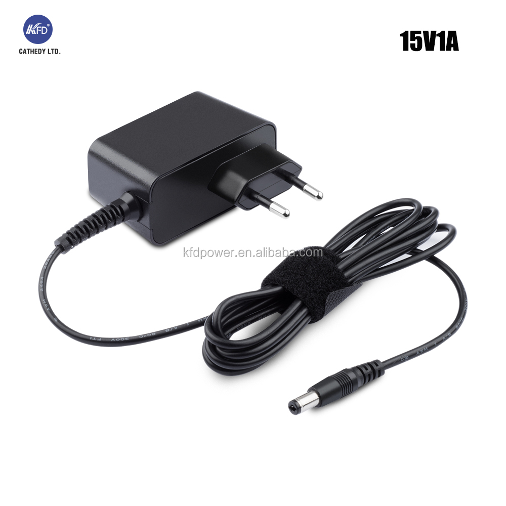 UL 60950 Europe 15V 1A Power adapter AC/DC 24W cctv Power Supply OEM 36W max
