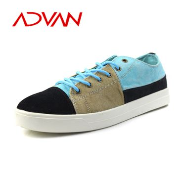 Colorful New Arrival Canvas Upper Wholesale Big Size Men Casual Walking Footwear
