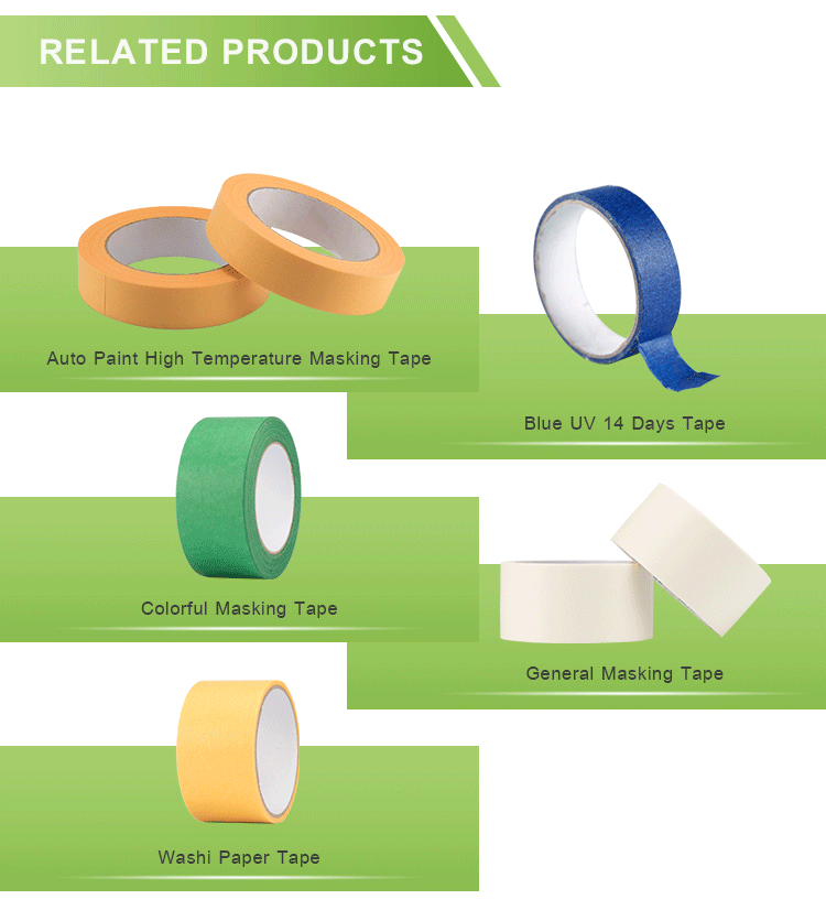 Washi Adhesive Waterproof Acrylic Water Masking Paper Tape