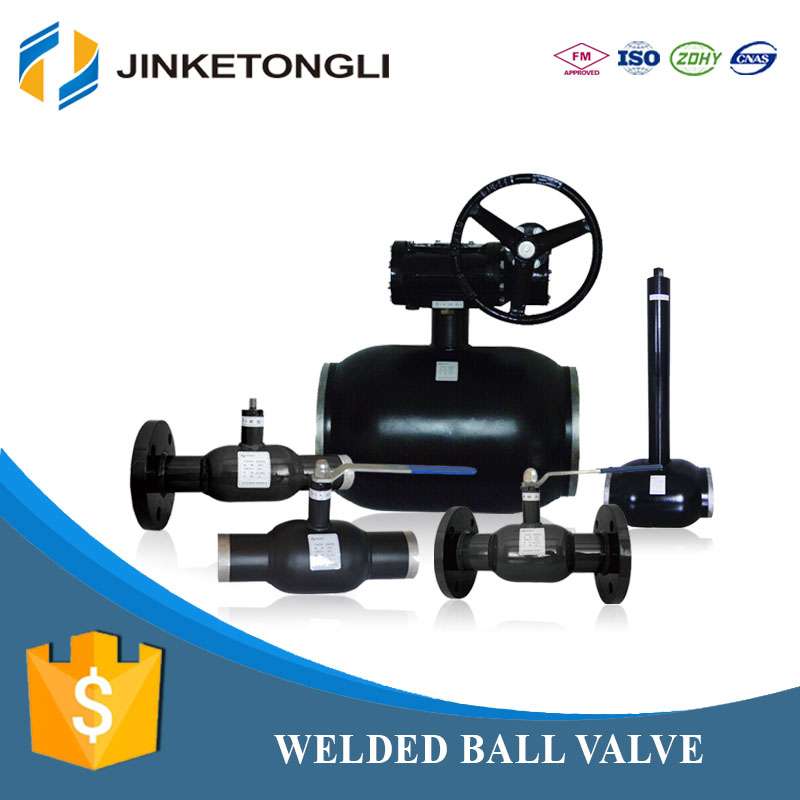 china supplier JKTL carbon steel fully welded steam ball valves