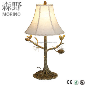 Custom made modern home hotel bedside metal rechargeable table lamp