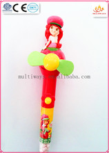 Shan tou hot sale plastic strawberry girl candy toy/promotion strawberry girl candy toy for kids