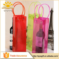 New arrival custom made clear convenient colorful pvc wine cooler bag with handle