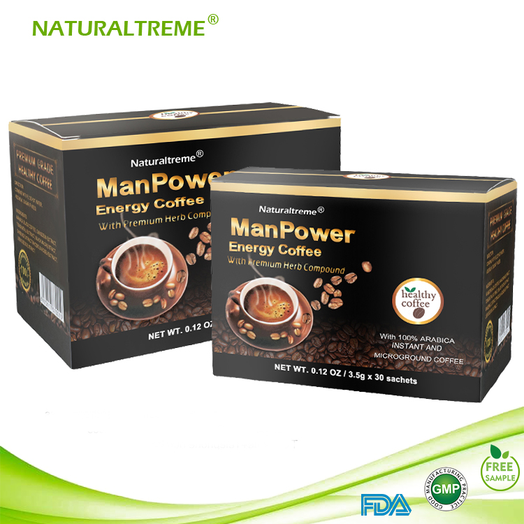 Herbal Instant Black Maca Coffee Ganoderma for Man Health