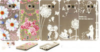 Fancy flower case back cover for Samsung Galaxy S6 edge plus, transparent tpu case for Galaxy S6 edge plus