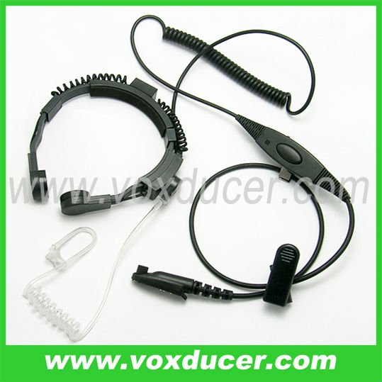 Handly switch PTT and Vox Military Throat Vibration Microphone for Motorola RELM