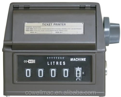 JSQ-4 Mechanical fuel Counter with ticket printer for fuel oil flow meter