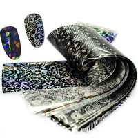 Factory direct sale starry sky wholesale nail transfer foil,nail art foil sticker