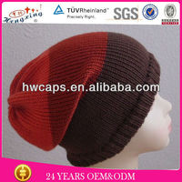 Hot Sale Fashionable Knit Pattern Winter Cap Hat For Girls
