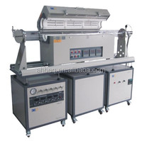 1200CThree Zone Sliding Tube Furnace With Low Vacuum System ,4 Channel Mass Flow Gas Control BTF-1200C-III-Sl--4ZL