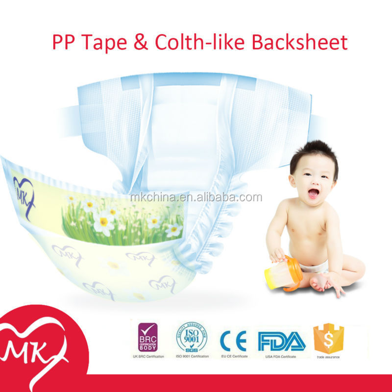 Full-automatic product line made baby diapers manufacturers in china exported high quality baby diapers in mexico