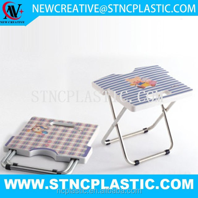 stainless steel plastic folding stool chair for kids