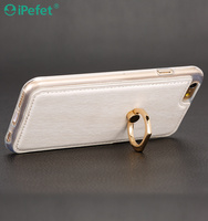 Hybrid TPU PU Buckle mobile case for iPhone 6 plus finger ring cover