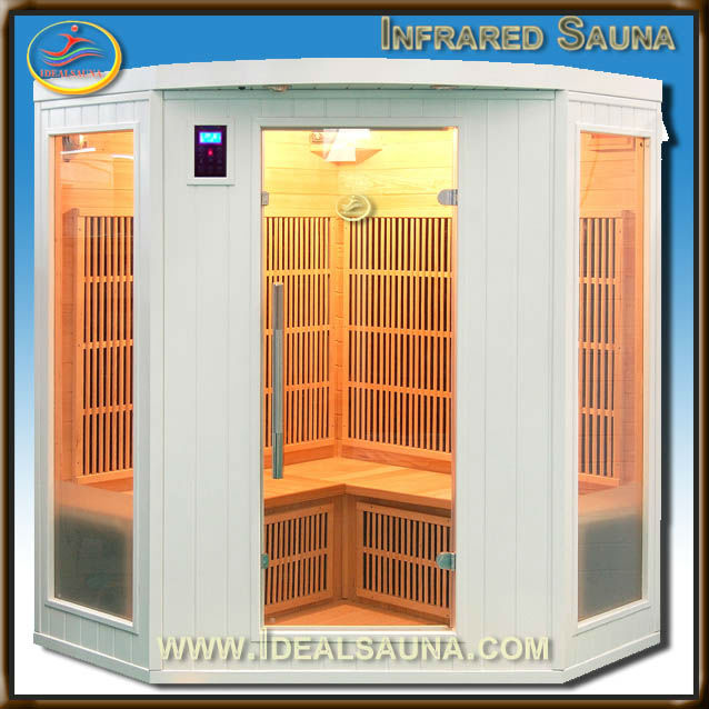 discount white painted hemlock infrared sauna seks