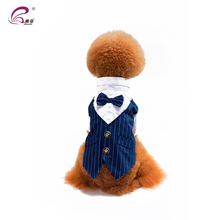 Fashionable cute pet wedding or evening dress formal dog clothes