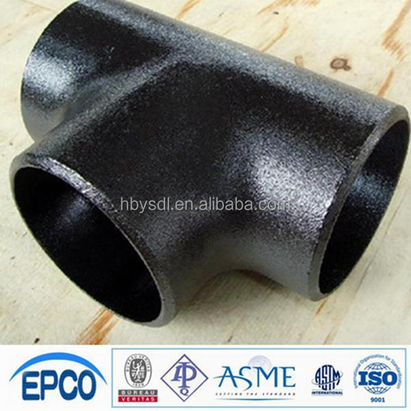 China manufacturer custom thick wall free carbon steel tube equal tee