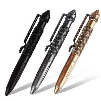 Outdoor Emergency Glass Breaker Self Defense Ballpoint Military Tactical Pen