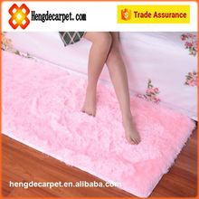 Trade assurance polyester floor shaggy rugs,good quality polyester silk shaggy carpets and rugs