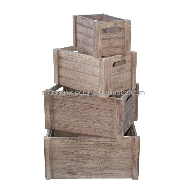 Vintage handmade solid wooden fruit crate distressed wood for Buy wooden fruit crates