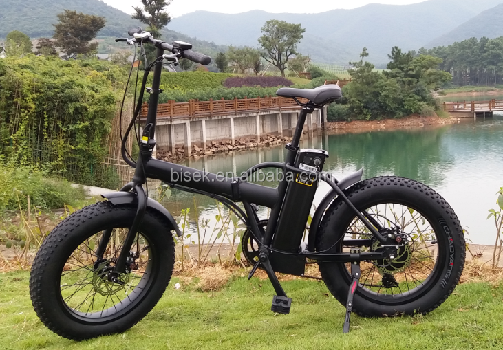 Fat Tire Beach Cruiser 20 Inch Wheel Folding Electric Bike