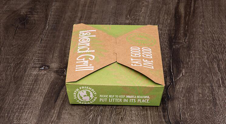Disposable food meal packaging box with logo