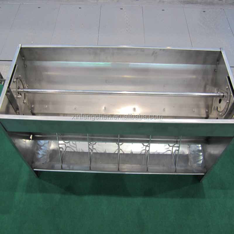 Livestock feed trough for pig