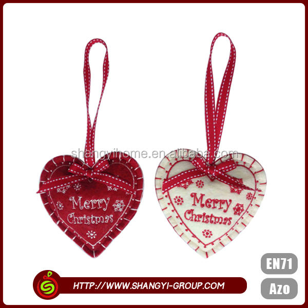 Heart shaped fancy cute china wholesale christmas decoration supplies