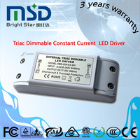 plastic cover 700ma 8w triac dimmable indoor led driver led power supply made in China