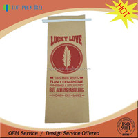 2016 kraft paper laminated foil side gusset coffee bag with tin tie