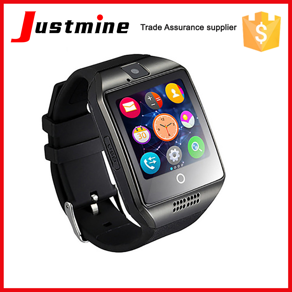 wholesale Q18 smart watch OEM acceptable CE approval NFC TF card slim card smart watch mobile phones