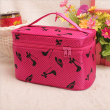 Factory Audit Passed- Women Lady Fashion Beauty DotS Travel Toiletry Cosmetic Makeup Bags Pouch Wash Handbag Organizer