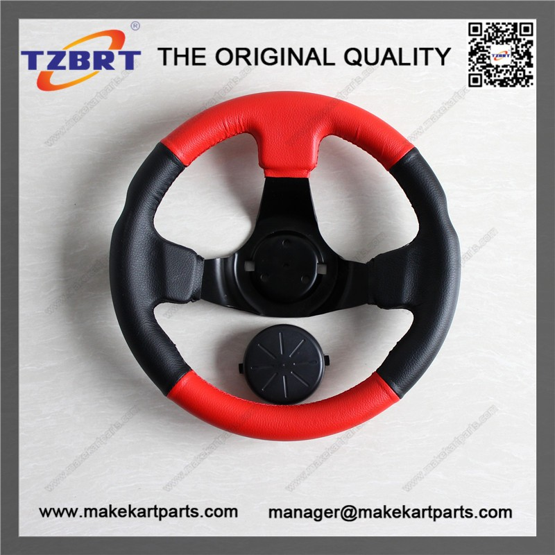 Universal red and black diameter 300mm go karts steering wheel