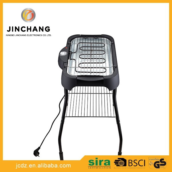 Height adjustable <strong>Portable</strong> S/S304 electric Barbecue Grill nonstick grill