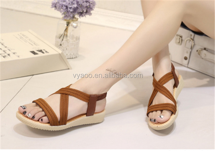 2017 women sandals shoes Roman style fish mouth type