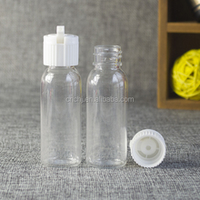 Malaysia PET clear 60ml 100ml e juice dropper plastic bottle manufacturer