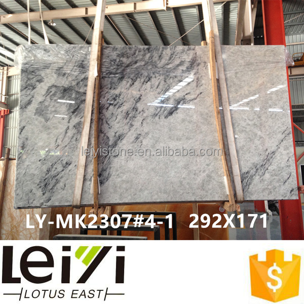 2cm polished China light grey color blue ice marble