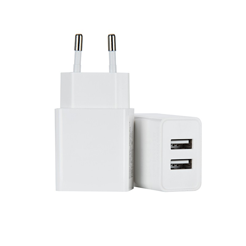 Shenzhen OEM Factory Dual USB 2.4A Smart IC Usb Wall Charger