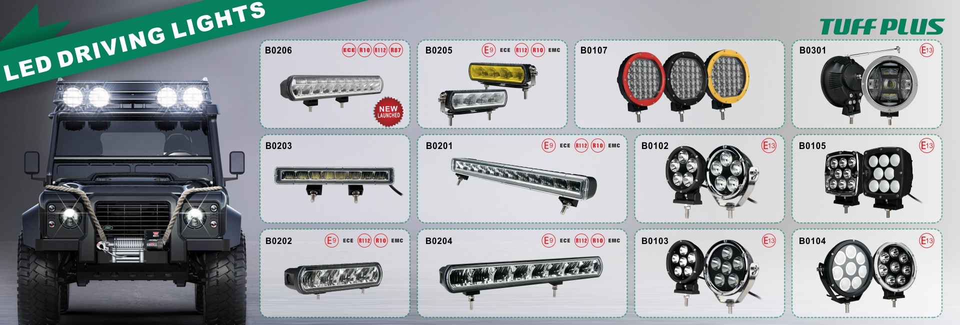 Dual row 40W slim led driving light led work light
