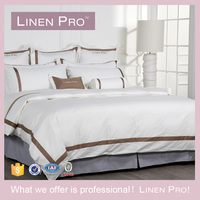 LinenPro Wholesale Bed Linen Hand Embroidery Design Bed Sheet