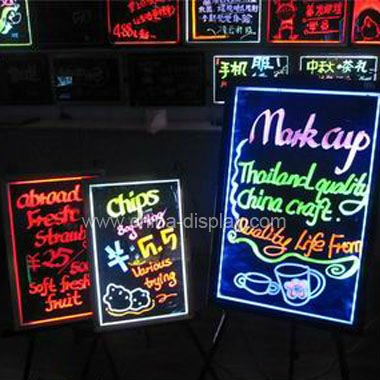 Erasable Advertising CE Rohs Flashing full color LED Writing Board LED Message Sign