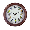 picture customized kid's bedroom musical wall clock