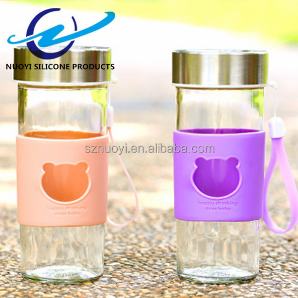 Eco-friendly non-slip silicone sleeve for glass cup