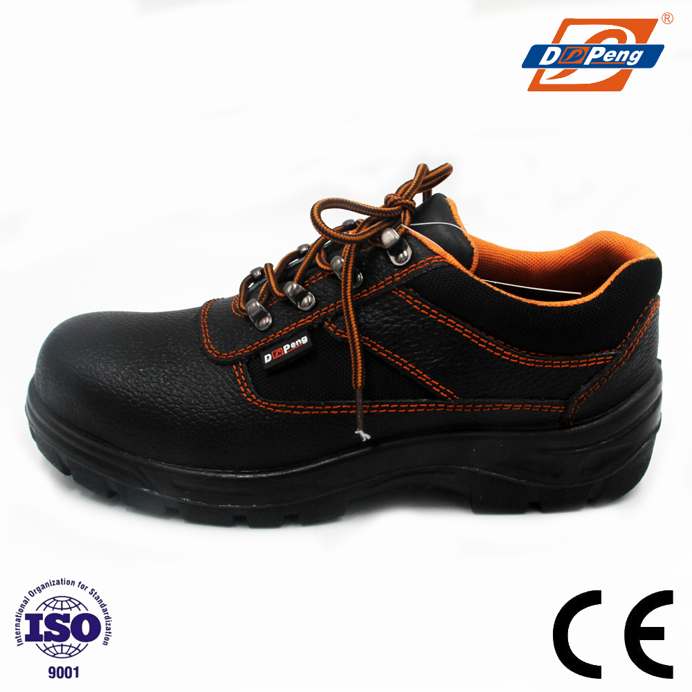 durable black steel toe cap construction security boots