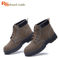 "Hot selling cheap price Men's 6"" Breathable leather safety boots and security work safety shoes and safety footwear RH-108"