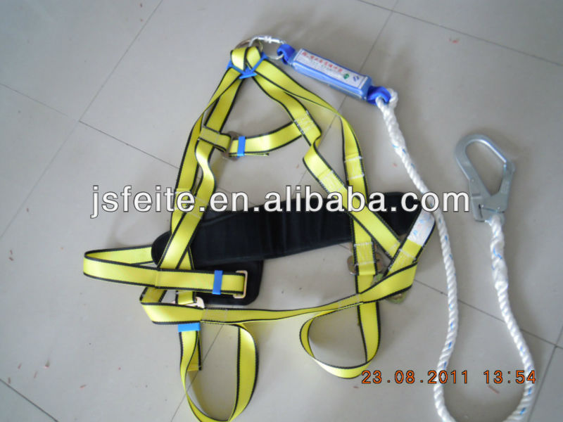 full body harness with lanyard &shock absorbers